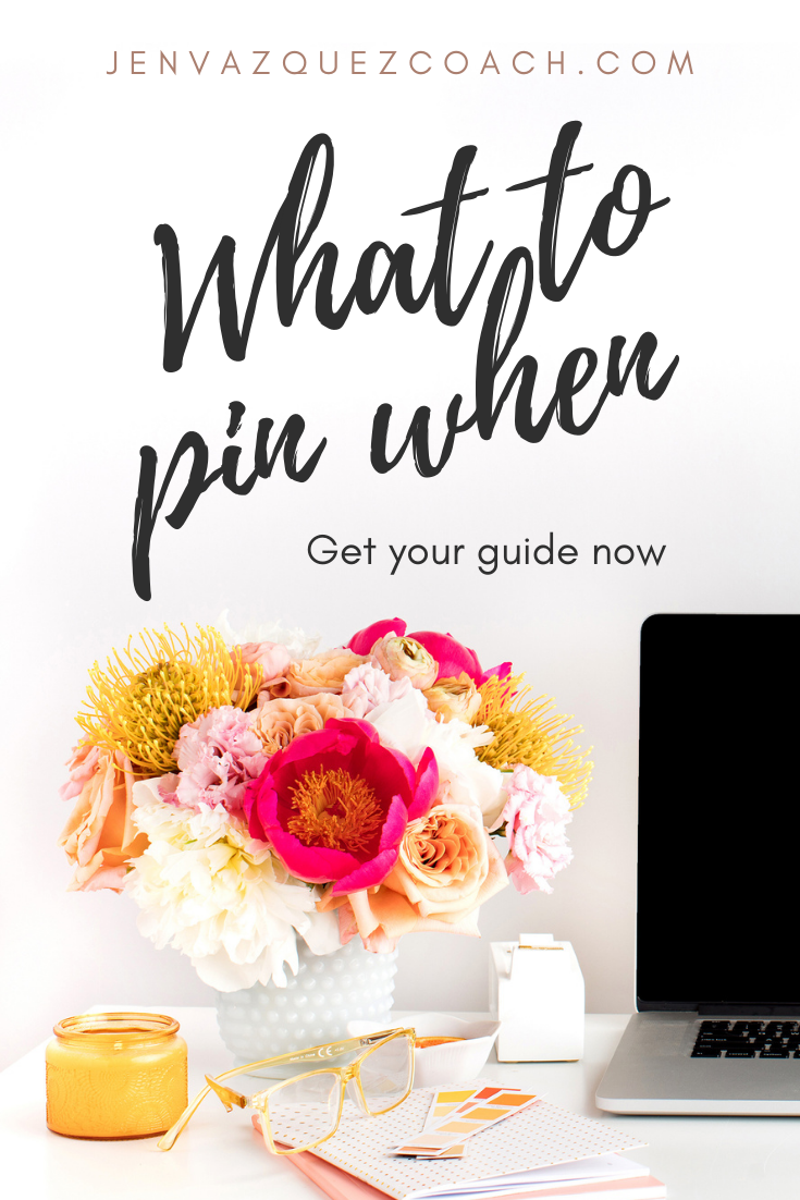 what to pin when by jen vazquez marketing strategist