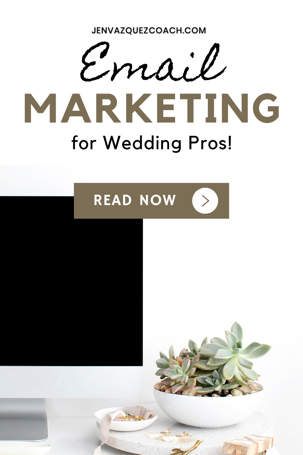 Email marketing for Wedding Pros by Jen Vazquez Marketing and Pinterest Strategist